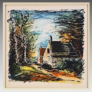 Color Lithograph after Maurice de Vlaminck - c. 1958, France