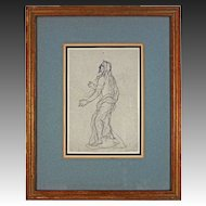 Benjamin West  Graphite on Paper Study of Standing Figure - c. 18th/19th Century, England