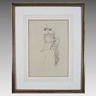 Lithograph after Whistler Suede Gloves (Gants de Suede) Monogram - 1894, England