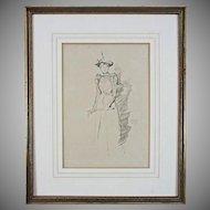 Lithograph after Whistler Suede Gloves (Gants de Suede) Monogram - 1894, England
