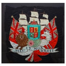 Royal Coat of Arms of Great Britain Embroidered Heraldic Banner - Red Tag Sale Item