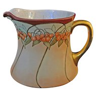 WG & Cie. Limoges Porcelain Cherries Pitcher - 1891-1932, France