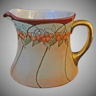 WG & Cie. Limoges Porcelain Cherries Pitcher - 1891-1932, France
