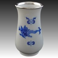 Meissen Porcelain and 800 Silver Rimmed Kakiemon Style  / Chinoiserie Bud Vase - c. 20th Century, Germany