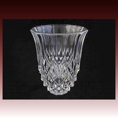"Val St Lambert Large 8"" Crystal Vase Clear - 20th Century, Belgium"