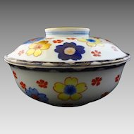 Large Japanese Arita Ware Lidded Bowl - c. 1921-1941, Japan