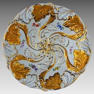 Meissen Crossed Swords Mark Bowl Gilt and Flowers - c.1934 or later, Germany