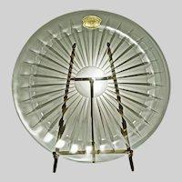 VSL Val St. Lambert Crystal Balmoral Glass Charger Large Plate  -  20th Century, Belgium