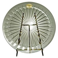 VSL Val St. Lambert Crystal Balmoral Large Plate  -  20th Century, Belgium