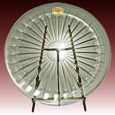 Val St. Lambert Crystal Balmoral Large Plate  -  20th Century, Belgium