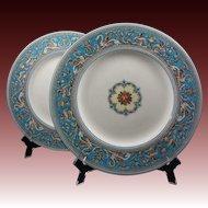 Pair Large Wedgwood Plates 2714W Florentine - 20th Century, England