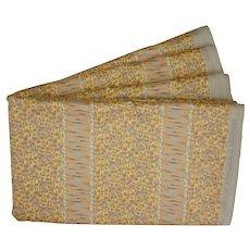 7.2 Yds. (1.8 yds x4) Luxury Etamine Wesserling Designer Vintage Pastel  Fabric Textile Cotton Chintz - 1980's, France