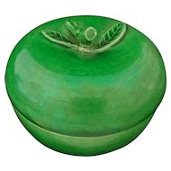 Green Glazed Pottery Apple-Shaped Box