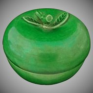 Green Glazed Pottery Apple-Shaped Box