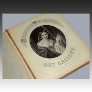 English and American Art Gallery Portfolio Book with 48 Antique Steel Engraving edited by John Sherer - 19th Century, England