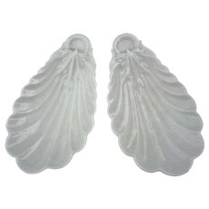 Pair Limoges Shell Shape Bowls White - 1888-1896, France