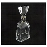 Daum Crystal Modern Decanter Oversize Stopper - c. 20th Century, France