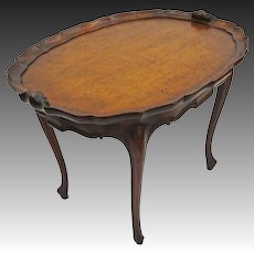 French Country Provincial Style Oval Tea Table by Hathaway, New York - c. 1950's or earlier, USA