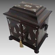 Antique Rosewood Compendium Lap Desk - 19th Century, England