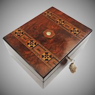 Antique Lap Desk Turnbridge Ware Inlaid Wood  - 19th Century, England