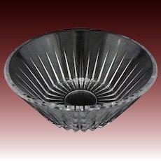 Val St Lambert Modern Cut Crystal Bowl - 20th Century, Belgium