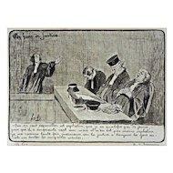 French Satirical Lithograph Honoré Daumier Les Gens de Justice Plate 11 France