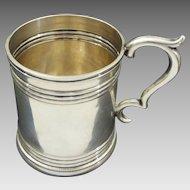 Antique Coin Silver Cann / Mug inscribed Charlietta / C.G.H. - c. 1840's, New York