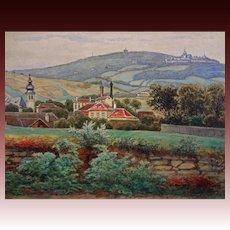 Antique Austrian Landscape Watercolor signed G. Zafaurek - 19th/20th Century, Austria