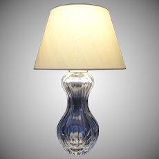 Saint Louis France Crystal Double Gourd Lamp - 20th Century, France
