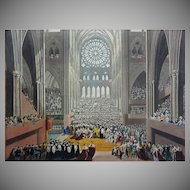 Antique Aquatint Coronation of King George IV The Ceremony of the Homage by William James Bennett  - 1824, England