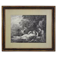 Baigneuses (Bathers) Lithograph after Fantin Latour - c. 1898, France