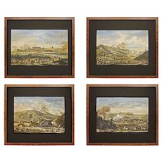 Set 4 Napoleonic Italian Campaigns Engravings after Vernet - early 19th Century, France