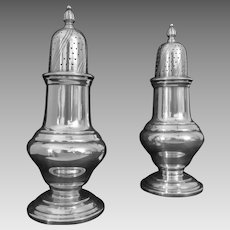 Pair Art Deco Period WMF Salt Pepper Shakers Silver Plate - c. 1920-1925, Germany