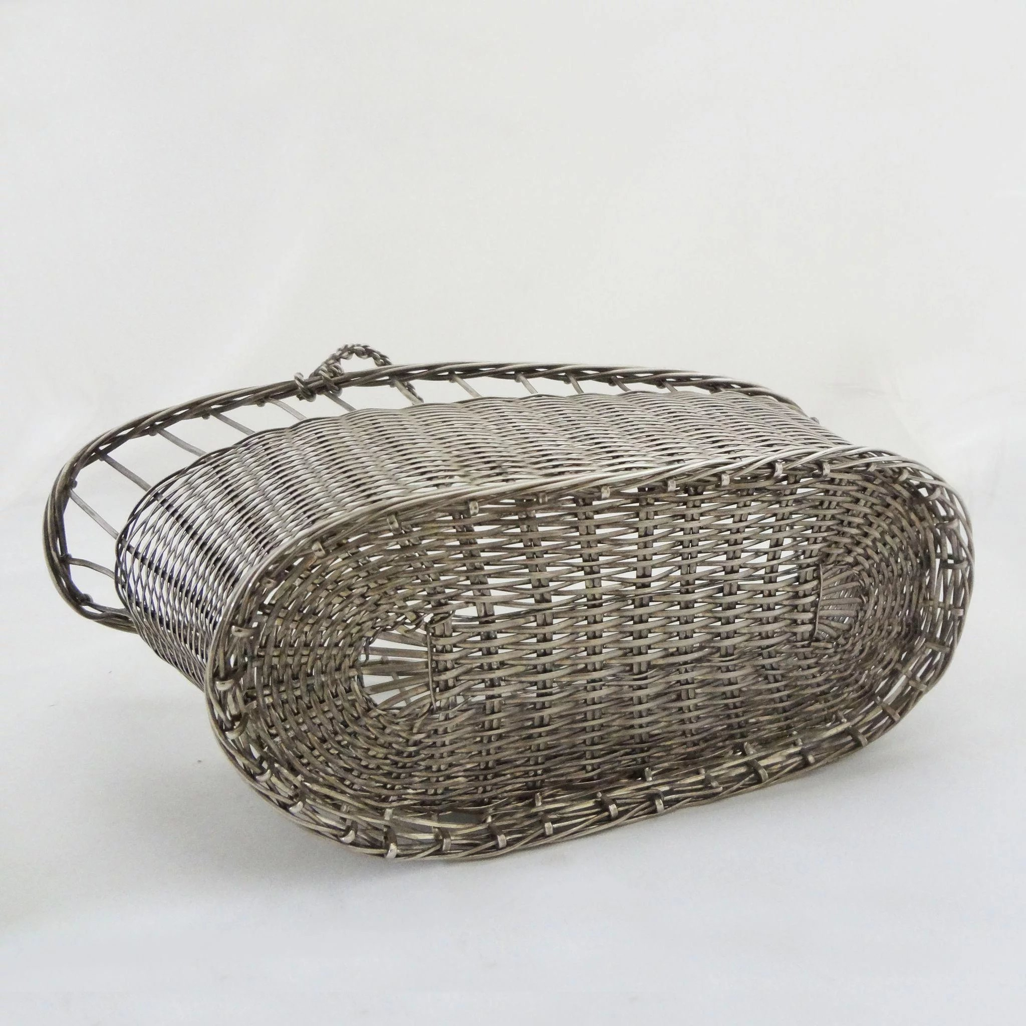 Vannerie Wine Basket / Caddy Silver Plated Christofle Style : Amulet ...