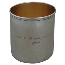 Tiffany Sterling Silver Cann / Mug / Handled Cup - 1929, USA