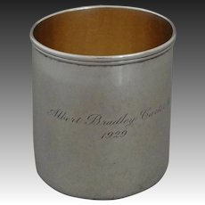 Tiffany Sterling Silver Cann / Mug / Handled Cup - 1929, USA