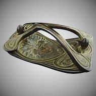 Art Nouveau Hand Blotter H. L. Judd & Co. Native American Chief Bronze - 19th Century, USA