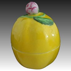 Herend Porcelain Lemon Shaped Lidded Trinket Box 6071 C - Hungary