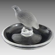 French Lalique Ring Dish Game Bird Figure - 20th Century, France