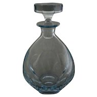Modern Swedish Strömbergshyttan Light Blue Crystal Decanter - c. 1970, Sweden