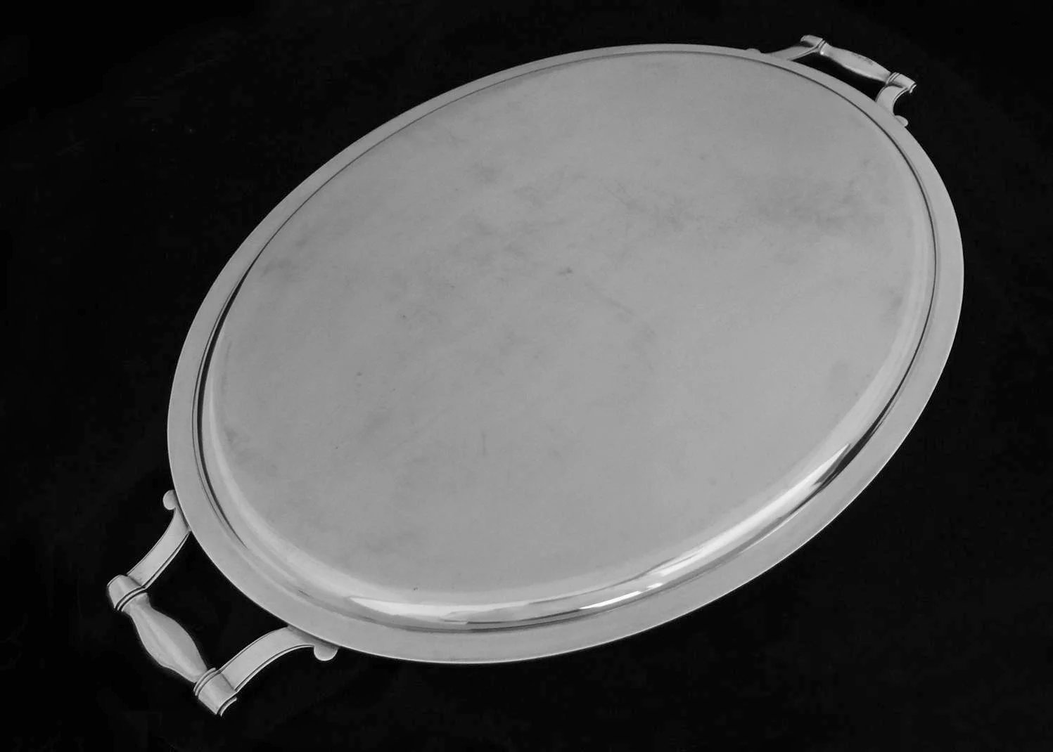 Christofle Large 22 Quot Oval Handled Tray Colbert Pattern