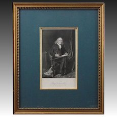 Antique Engraving Americana Portrait Benjamin Franklin - 19th Century, USA