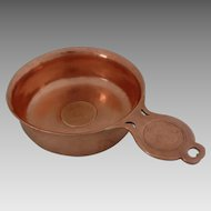 English Copper Porringer Marked A. J. Crawford Co. London - 19th Century, England