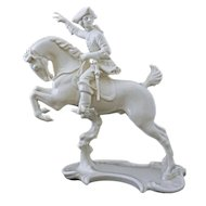 Nymphenburg Equestrian Male Galloping Rider Figurine 362 - Post 1910, Germany