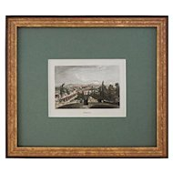 Mexico Antique Color Steel Engraving by Rouargue - 19th Century, France