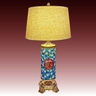 Longwy Japonism / Orientalist Table Lamp Bronze Mount - c. 19th Century, France