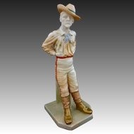 Antique Royal Worcester The Yankee Porcelain National Figure Series N° 836 - 1896, England