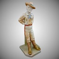 Antique Royal Worcester The Yankee Porcelain National Figure Series N° 836 - 1896, England