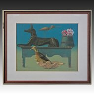 Modern Still Life Color Silkscreen The Guards signed Allen Saalburg , Americana - 20th Century, USA