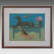 Modern Still Life Color Silkscreen The Guards signed Allen Saalburg , Americana - 20th Century, USA